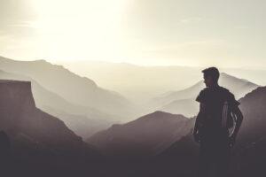 marcheur montagne